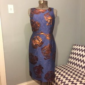 Leifsdotter Bronzed Brocade Sheath Dress